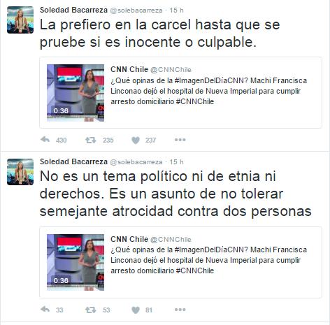 Captura | Soledad Bacarreza / Twitter