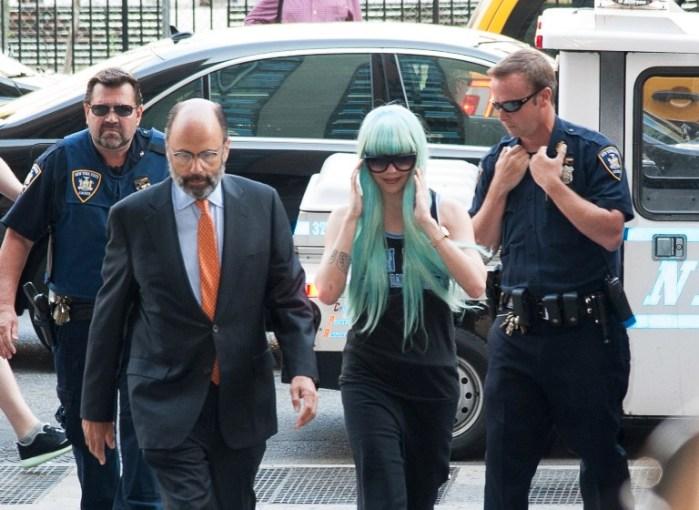 Amanda en una aparición en la corte| Dave Kotinsky| AFP