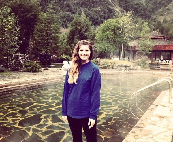 Erica visitando las termas de Coñaripe | Blogspot