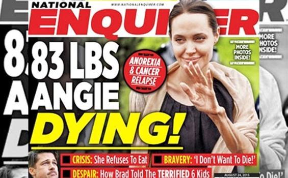 La cuestionada portada   National Enquirer