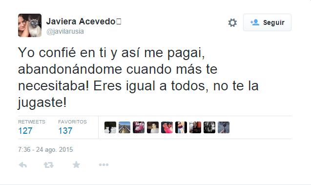 Javiera Acevedo | Twitter