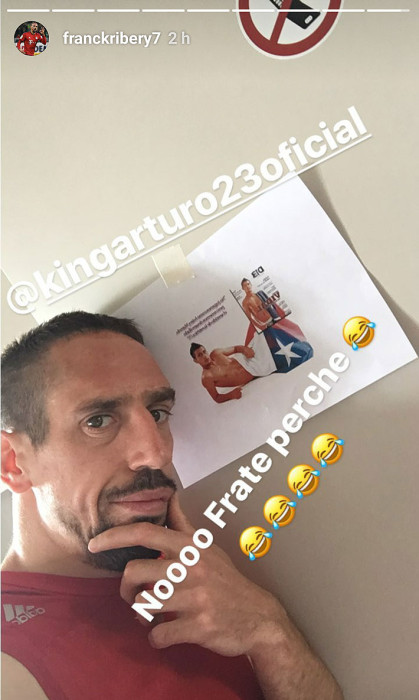 Frank Ribery | Instagram Stories