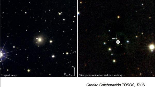Una bola de fuego, producto del choque de dos estrellas, que fue obtenida con el telescopio T80S, en Cerro Tololo | TOROS