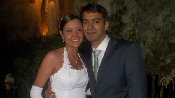Iván Furiasse y su esposa