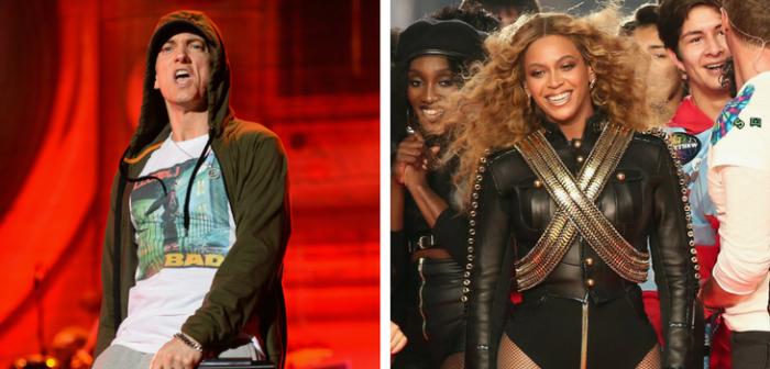 Eminem y Beyoncé | AFP