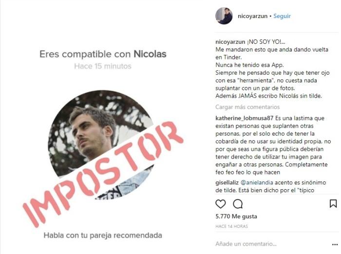 Nicolás Oyarzún | Instagram