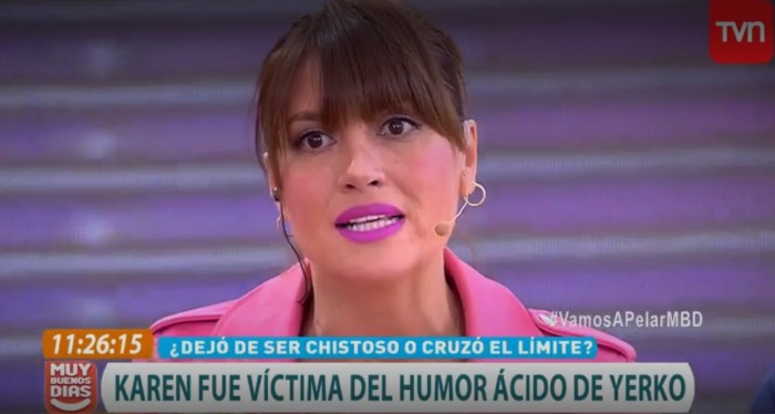 Karen en matinal de TVN