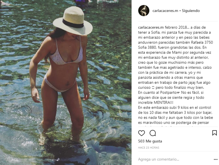 Carla Cáceres | Instagram
