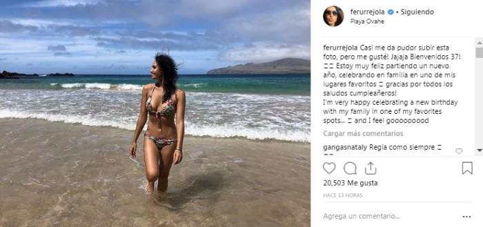 Dejó Atrás El Pudor Fernanda Urrejola Se Lució Posando En Bikini