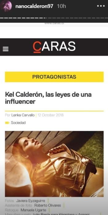 Nano Calderón / Instagram