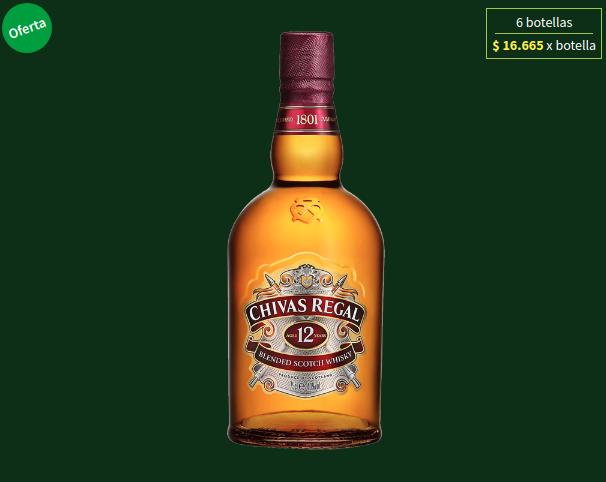 Caja de whisky Chivas Regal de 12 años 40° – 6 botellas
