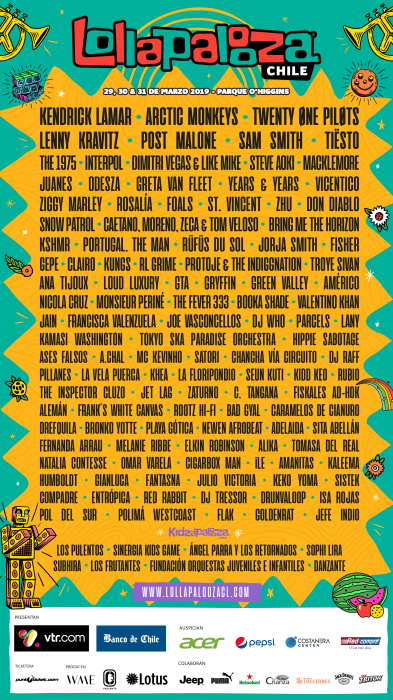 Line Up - Chile - 2019 FINAL -