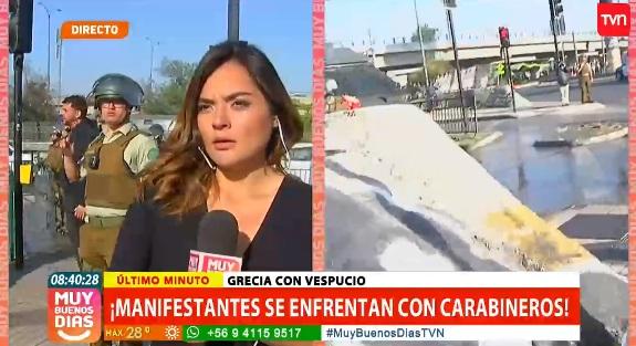 Manifestante interrumpen despacho en vivo de equipo de Muy Buenos Días