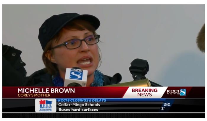 Michelle Brown | Captura transmisión KCCI