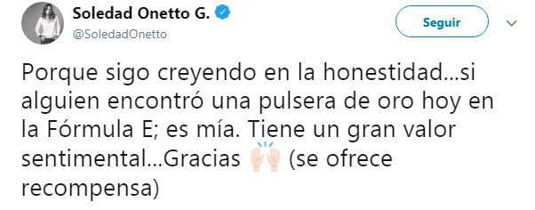 Soledad Onetto | Twitter