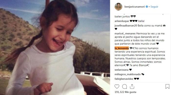 Instagram Benjamín Vicuña