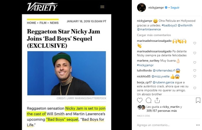 Nicky Jam | Instagram