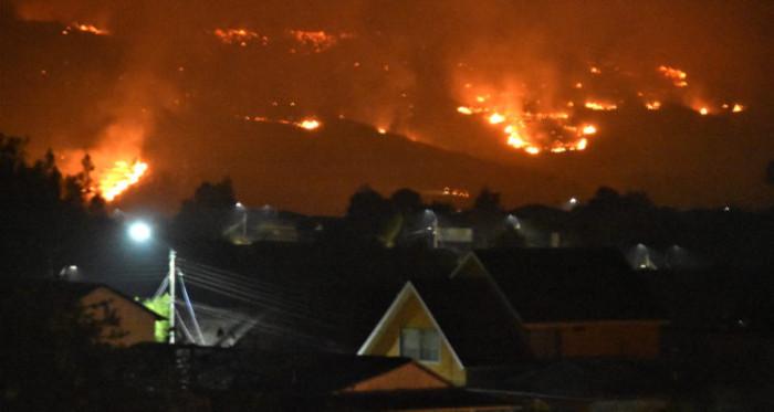 Incendio en Carahue el lunes | Agencia UNO | Héctor Andrade