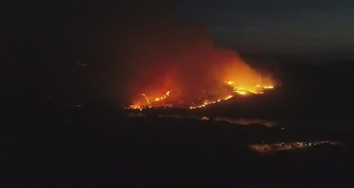 Incendio en Carahue | Cedida