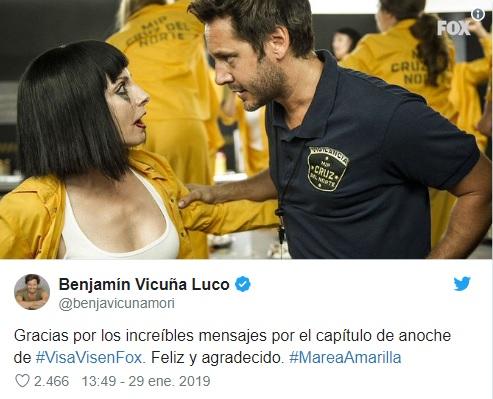 Twitter Benjamín Vicuña