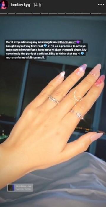 Beck G y su nuevo anillo