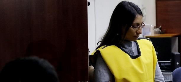 johanna hernánez en juicio por el caso de profesor nibaldo