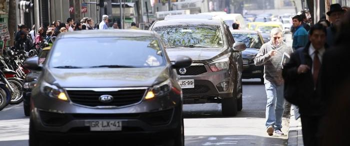 autos en las calles de santiago