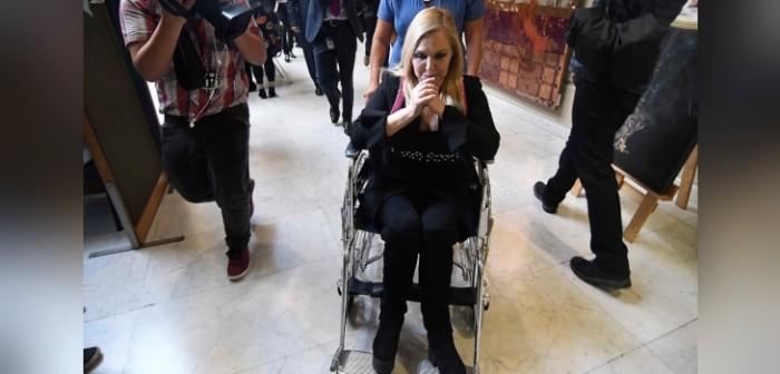 Pamela Jiles se accidentó en el Congreso