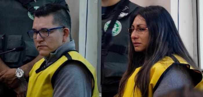 johanna hernánez y francisco silva en juicio por el caso de profesor nibaldo