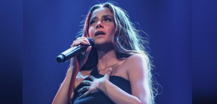 Camila Gallardo conversó con sus fans durante su concierto