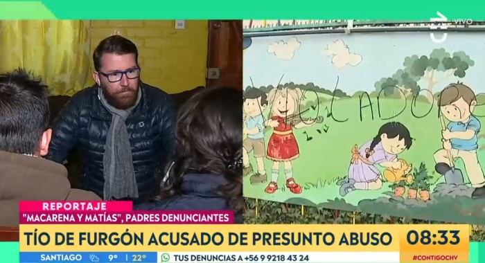 Denuncian al conductor del furgón escolar de la Escuela de Lenguaje J.J. Pérez de Cerro Navia