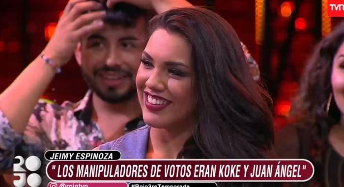 Jeimy Espinoza aclaró rumores sobre la fila de eliminación de Rojo