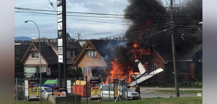 Avioneta cayó sobre viviendas en Puerto Montt