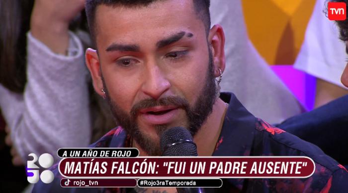 Matías Falcón emocionado en Rojo