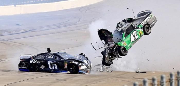 Accidente de Kyle Larson en Nascar