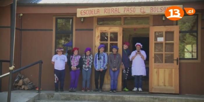 Alumnos escuela El Bolsón