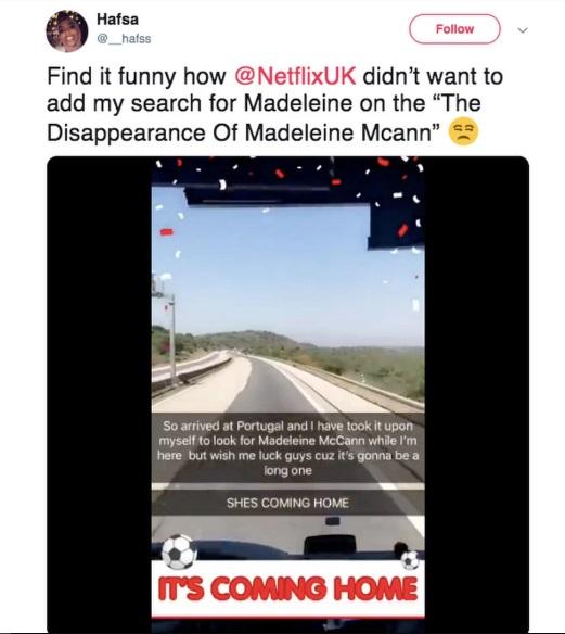broma búsqueda Madeleine McCann