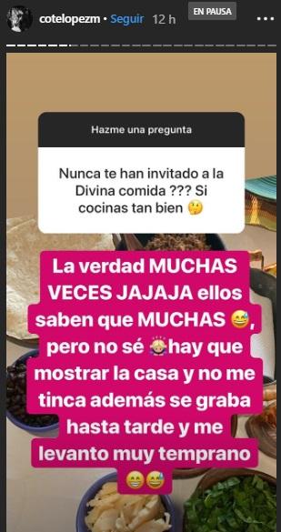 Coté López explicó por qué no quiere ir a la divina comida