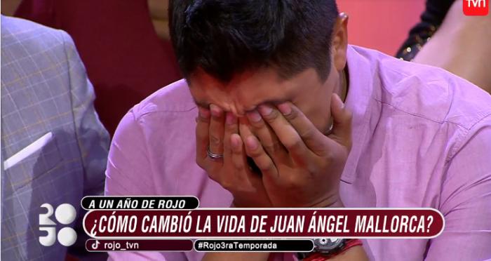 Juan Angel Mallorca llora en Rojo