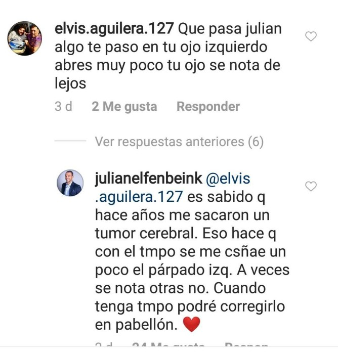 Julián Elfenbein / Instagram