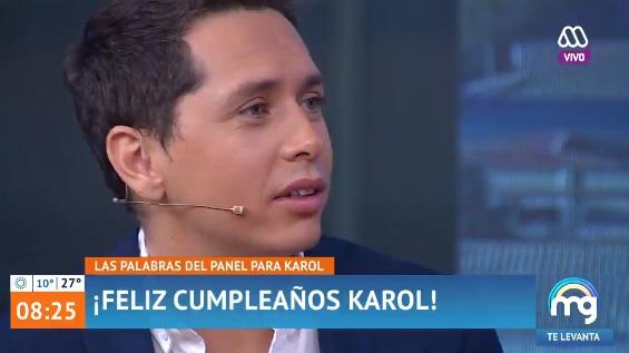 Pareja de Karol Lucero estuvo en Mucho Gusto para saludarlo por su cumpleaños — Presentación oficial