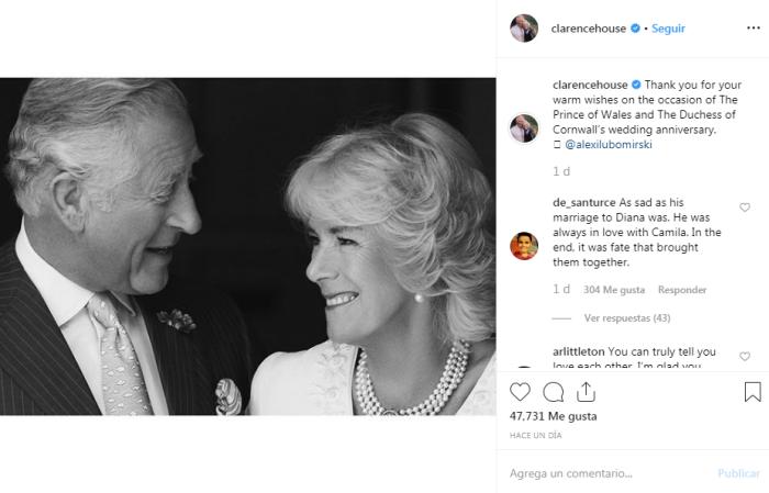 A 14 años del polémico matrimonio: así celebraron el príncipe Carlos y Camilla Parker su aniversario