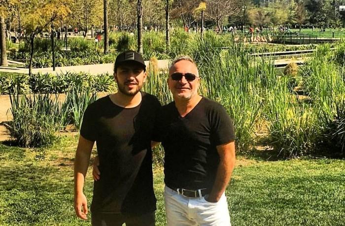 Luis Jara y su hijo mayor