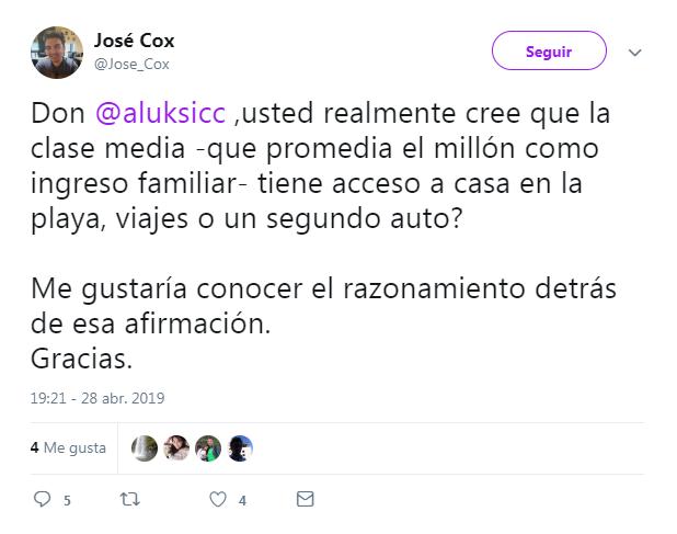 reacción de twitter tras dichos de andrónico luksic