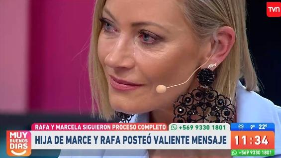 Marcela y emoción por mensaje de su hija tras juicio