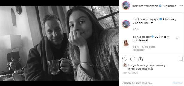 Martín Cárcamo publicó adorable foto junto a su hija Alfonsina y evidenció lo grande que está