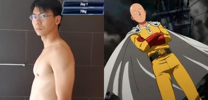 Hombre que siguió el plan de entrenamiento de Saitama de One Punch Man obtuvo increíbles resultados