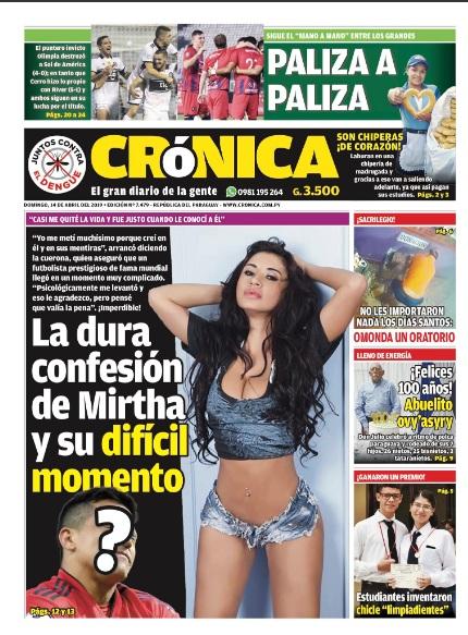 Diario Crónica anuncia que Alexis Sánchez desilusionó a modelo paraguaya