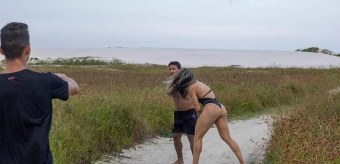 Mujer golpeó a hombre que se masturbaba frente a ella en playa de Brasil
