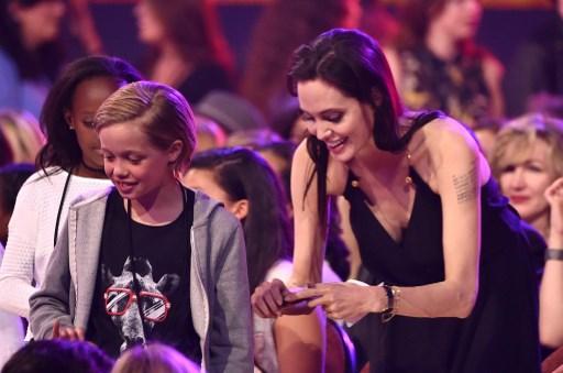 Angelina Jolie y Shiloh Pitt